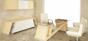 Baltoro Executive Desk with Credenza